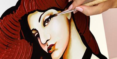 Handmålade tavlor